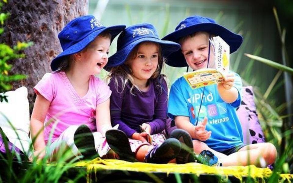 Fairy garden reading